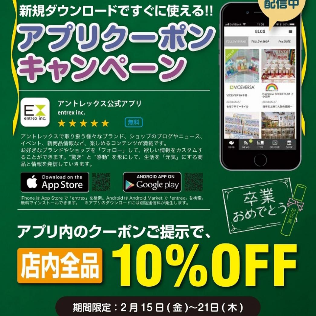 「店内商品10%OFF!」の写真