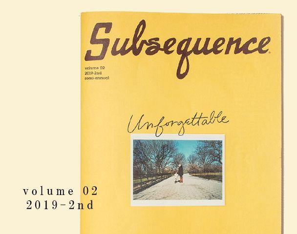 Subsequence Magazine Vol.2 入荷の写真
