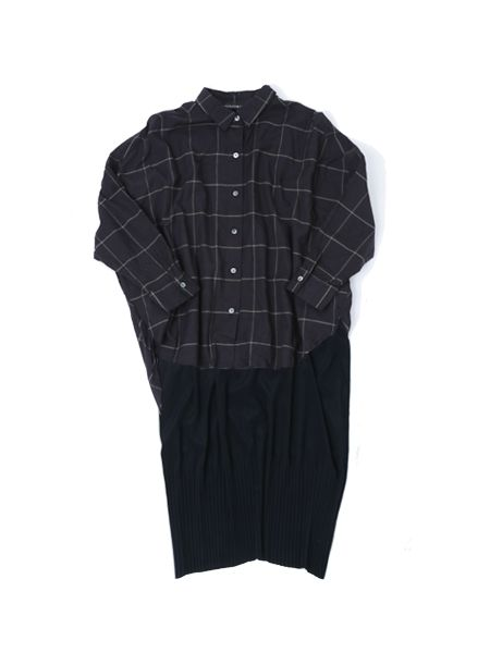 long slv cocoon shirt / OP - mizuiro ind 2017 AW collectionの写真