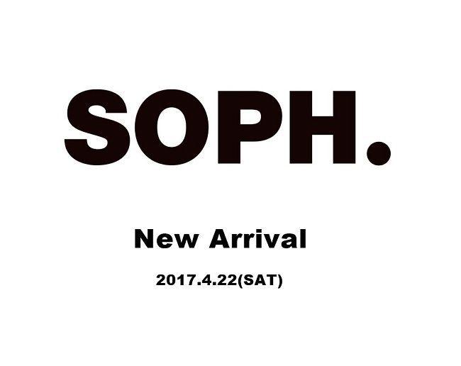 SOPHNET.  New arrival (2017.4.22)の写真
