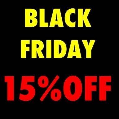 「【BLACK FRIDAY】店内商品15%OFF!」の写真