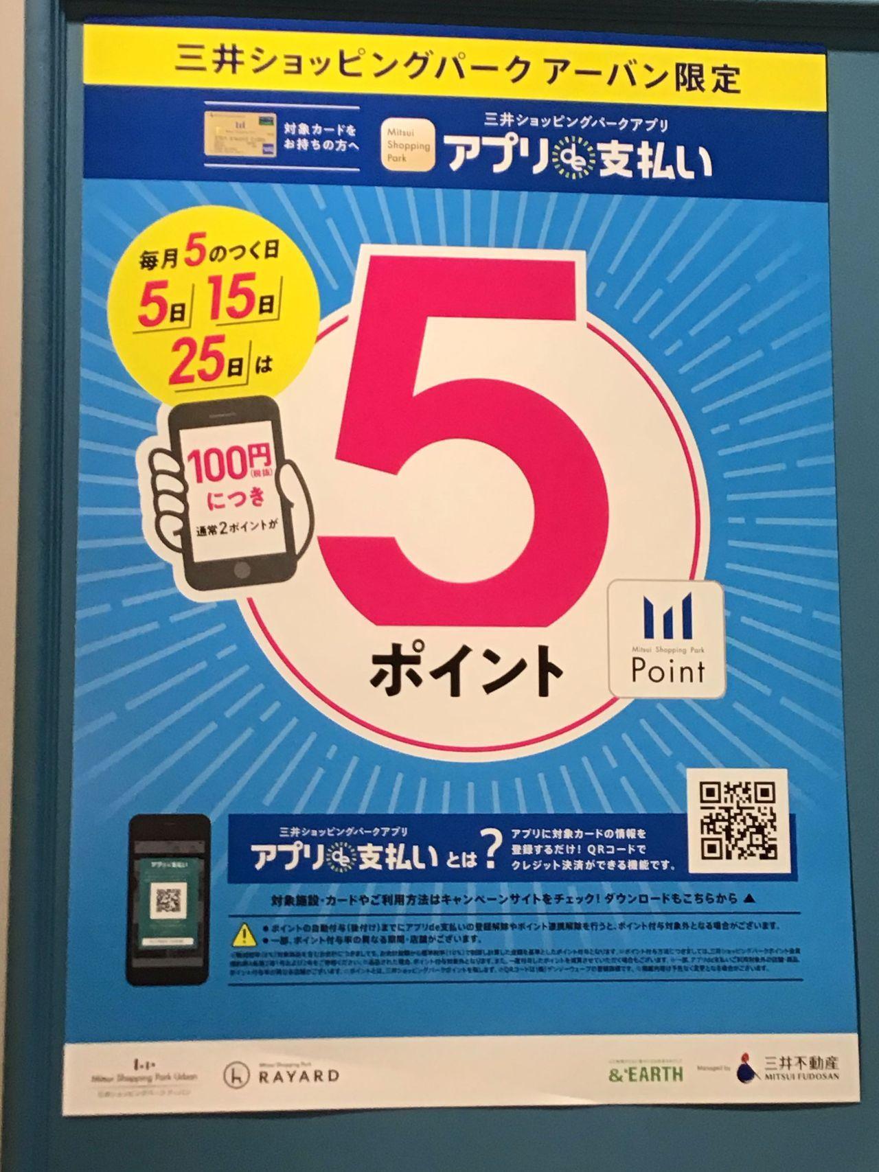 ポイントアップdayの変更【コレド日本橋】の写真