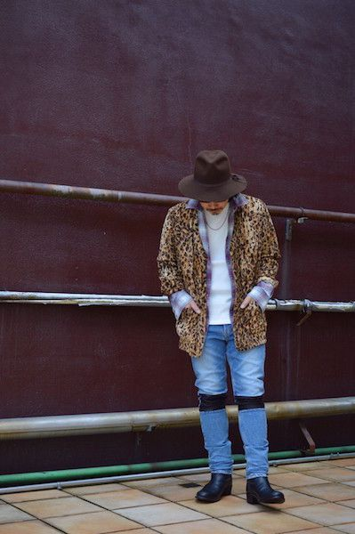 【 The Letters 】/ Western Gown Leopard Fur Shirt. Stylingの写真