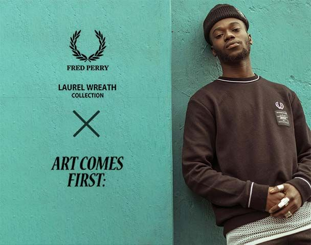 """FRED PERRY LAUREL WREATH COLLECTION / コラボレーションアイテム入荷 """"ART COMES FIRST TAPED TRACK JACKET""""andmoreの写真"""